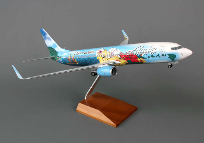 Alaska 737-800 (1:100) Spirit Of The Islands by Skymarks Supreme Desktop Aircraft Models item number: SKR8243