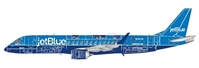 "JetBlue ERJ-190 ""Blueprint"" (1:100), SkyMarks Airliners Models Item Number SKR960"