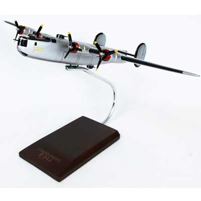 B-24J Liberator (Silver) (1:72), TMC Pacific Desktop Airplane Models Item Number AB24ST
