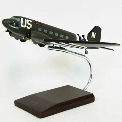 C-47A Skytrain (Olive) (1:72), TMC Pacific Desktop Airplane Models Item Number AC047ODT