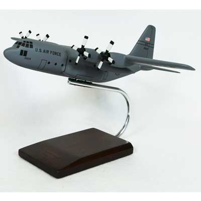 C-130H Hercules (Gray) (1:100), TMC Pacific Desktop Airplane Models Item Number AC130GT
