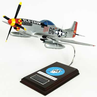 "P-51D Mustang ""Old Crow"" (1:24), TMC Pacific Desktop Airplane Models Item Number AP51OCTS"