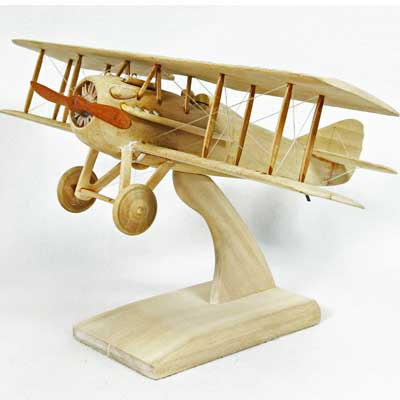 SPAD XIII Natural Wood (1:20), TMC Pacific Desktop Airplane Models Item Number ASPRNWT