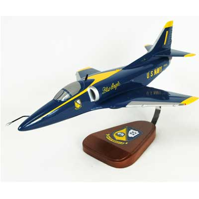 A-4 Skyhawk Blue Angels (1:40), TMC Pacific Desktop Airplane Models Item Number CA04BA