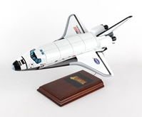 Space Shuttle Atlantis model with opening cargo bay doors