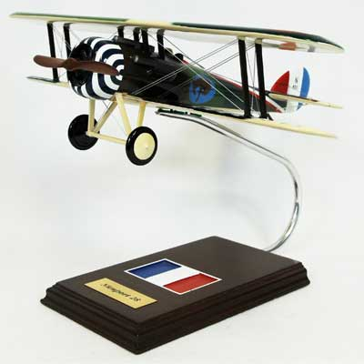 Nieuport 28 Fighter (1:20), TMC Pacific Desktop Airplane Models Item Number FFN28TE