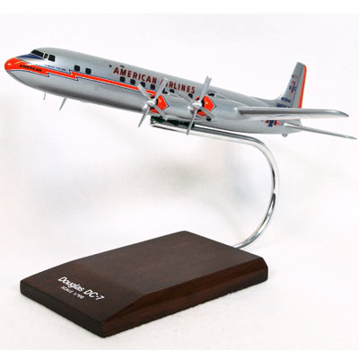 DC-7B American (1:100), TMC Pacific Desktop Airplane Models Item Number KDC7AAT