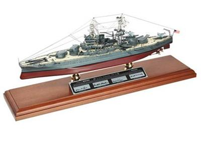 USS Arizona Signed by Lane, McCurdy, Vlach , TMC Pacific Desktop Airplane Models Item Number MBBAZTSS