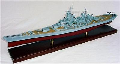 WWII USN U.S.S. MISSOURI BB-63 (1:350), TMC Pacific Desktop Airplane Models Item Number MBBMO