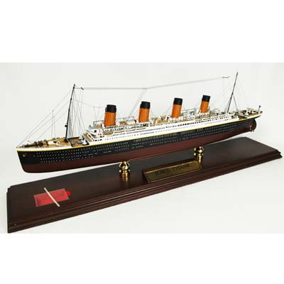 Titanic Wood Model Ship (1:350), TMC Pacific Desktop Airplane Models Item Number MBOTITT