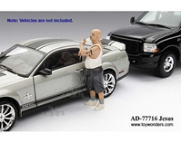Auto Theft Jesus Figure (1:18) (White), American Diorama Figurine Item Number 77716