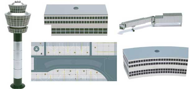 Airport Complete Set 1 (1:500), Herpa 1:500 Scale Diecast Airliners Item Number HE516792