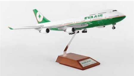 EVA Air B747-400 B-16410, with Stand (1:200) by JC Wings Diecast Airliners Item: BBOX2528
