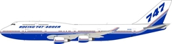 Boeing B747-400ER N747ER House Colors (1:200) by JC Wings Diecast Airliners Item: JC2BOE174
