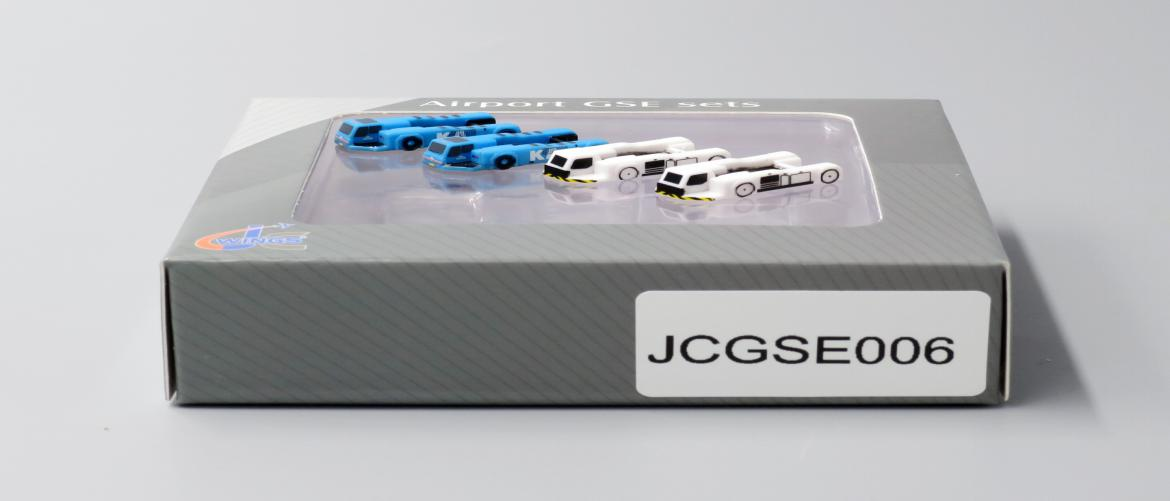 Push Back Tug 4 PACK, 2 KLM, 2 Blank (1:400), JC Wings Diecast Airliners Item Number JC4GSE006