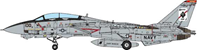 F-14A Tomcat VF-41 Black Aces, USS Enterprise (CVN-65), 2001 (1:72), JC Wings Millitary Item Number JCW-72-F14-002