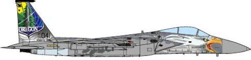 F-15C Eagle 173rd Fighter Wing, Oregon Air National Guard, 75th anniversary, 2016 (1:72) - Preorder item, order now for future delivery, JC Wings Millitary Item Number JCW-72-F15-003