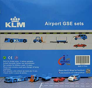 KLM GSE Set 1 (1:200) - Special Clearance Pricing by JC Wings Diecast Airliners Item: XX2021
