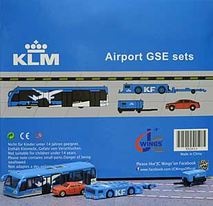 KLM GSE Set 3 (1:200) - Special Clearance Pricing by JC Wings Diecast Airliners Item: XX2023