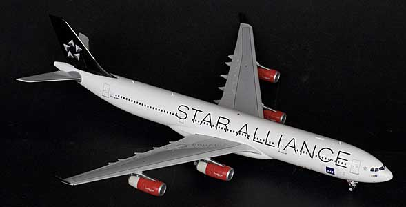"SAS ""Star Alliace""A340-300 OY-KBM (1:200) - Special Clearance Pricing by JC Wings Diecast Airliners Item: XX2094"