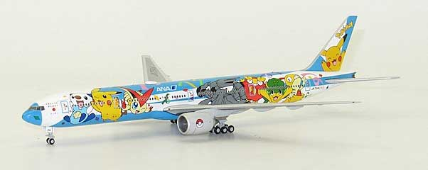 "ANA Boeing ""Pokemon Livery"" B777-300 (JA754A) ""Flap Down"" by JC Wings Diecast Airliners Item: JC4101A"