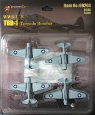 TBD-1 Devastator, Set of 4 (1:200) Includes decals, Merit International Item Number MIL-68204