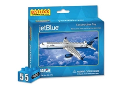 Jet Blue 55 Piece Construction Toy, Best Lock Item Number BL175