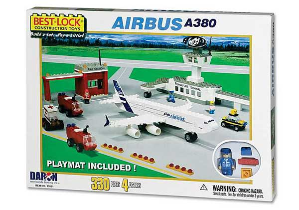 Airbus A380 330 Piece Construction Playset, Best Lock Item Number BL33021