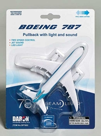 Boeing 787 Pullback, Daron Toys Item Number DP7852