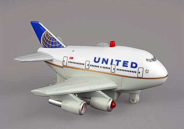 United Pullback W/LIGHT & Sound Post Continental Merger, Toytech Item Number TT523-1