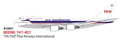 "Thai Airways 747-400 ""HS-TGP"" (1:400), Apollo Diecast Item Number A13021"