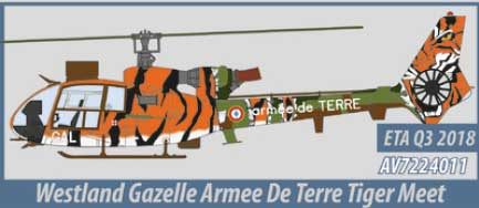 Westland Gazelle, Arm?e de Terre (1:72) - Preorder item, order now for future delivery, Aviation72 Diecast Airlines Item Number AV72-24011