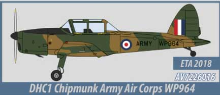 DHC1 Chipmunk, Army Air Corps (1:72) - , Aviation72 Diecast Airlines Item Number AV72-26016
