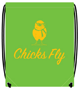 Green Chicks Fly Backpack, Born Aviation Aviation Gifts Item Number BP-CFG