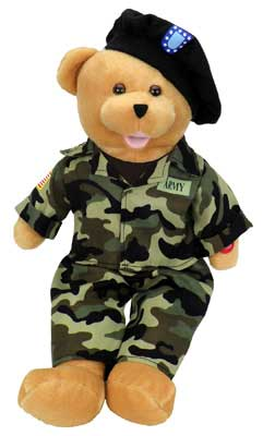 "Army Military Hero Bear ""The Army Goes Rolling Along"""