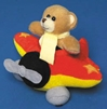 Small Plush Airplane with Bear