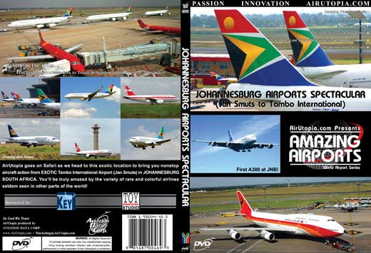 Johannesburg Airports Spectacular (DVD), Air Utopia Aviation DVDs Item Number AUT27