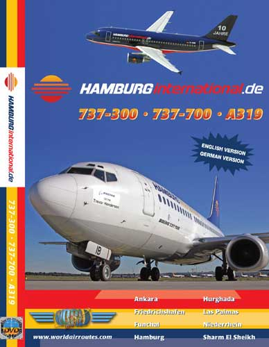 Hamburg Int'l A319, B737-300 & B737-700 (DVD), Just Planes Aviation DVDs Item Number JPHHI1