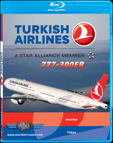 Turkish Airlines 777-300ER to Narita (DVD or Blu Ray HD), Just Planes Aviation Blu-Ray Item Number JPTHY2B