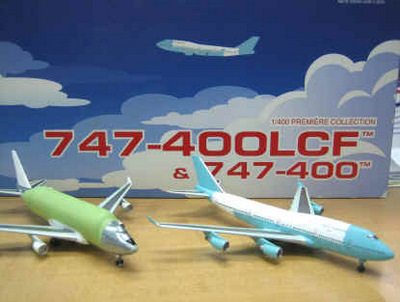 Unpainted Boeing 747-400 LCF & 747-400-N249BA Set (1:400), DragonWings 400 Diecast Airliners Item Number DRW55653