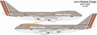 Asiana Cargo B747-400F - HL7436 (1:400), DragonWings 400 Diecast Airliners Item Number DRW55973