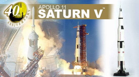 Apollo 11 - Saturn V Rocket 40th Anniversary (1:400), DragonWings 400 Diecast Airliners Item Number DRW56111
