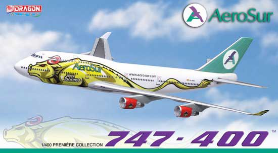 "Aerosur 747-400 ""Super Torisimo"" - CP2603 (1:400), DragonWings 400 Diecast Airliners Item Number DRW56217"