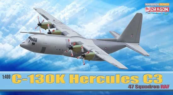 C-130K Hercules C.3, 47 Squadron RAF, Military (1:400), DragonWings 400 Diecast Airliners Item Number DRW56279