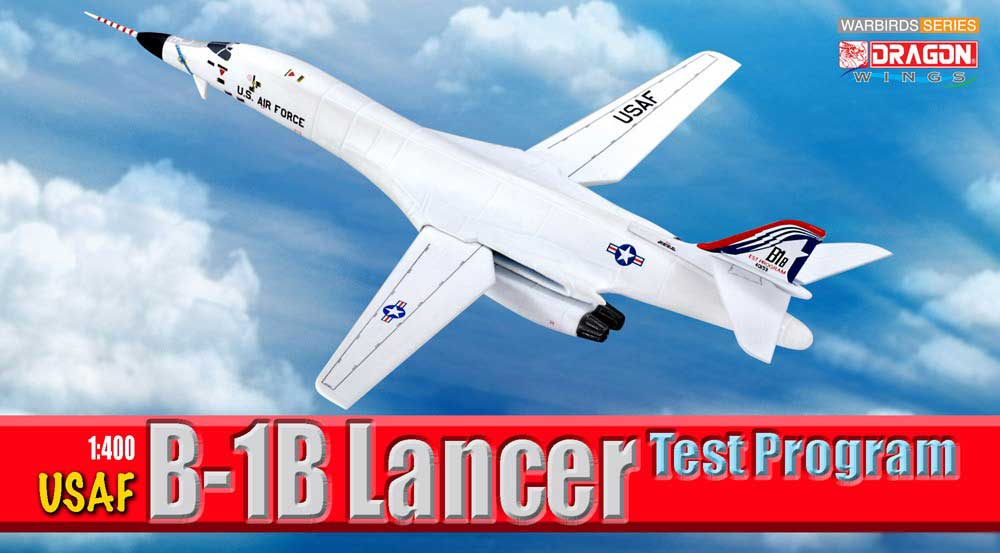 USAF B-1B Lancer Test Program (1:400), DragonWings 400 Diecast Airliners Item Number DRW56310