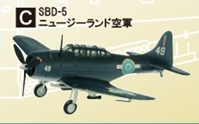 SBD-5 New Zealand air force (1:144), F-Toys from Japan Item Number FTC4003C
