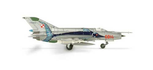 Polish Air Force MIG-21MF (1:200), Herpa 1:200 Scale Diecast Airliners Item Number HE552363