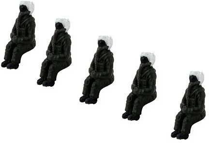 Modern U.S. (1:72) Scale Pilot Figures, Hobby Master Diecast Airplanes Item Number HP0002