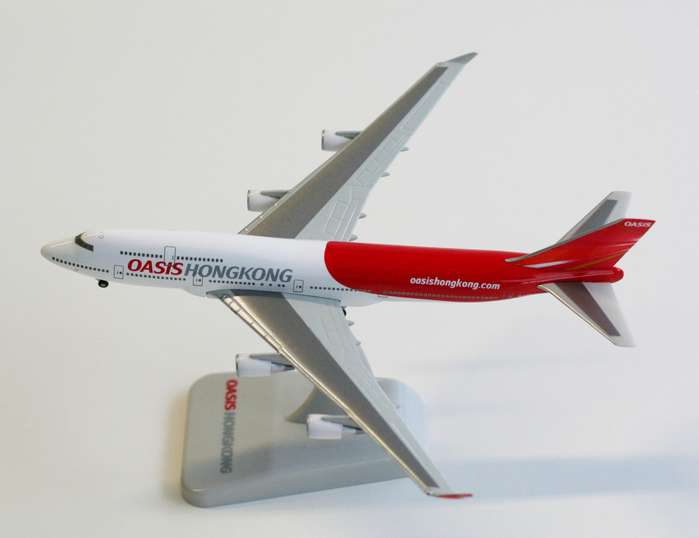 Oasis 747-400 (1:500), Hogan Wings Collectible Airliner Models Item Number HG8706