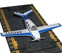 "Beechcraft Bonanza (Blue/White) (Approx. 5""), Hot Wings Toy Airplanes Item Number HW13112"